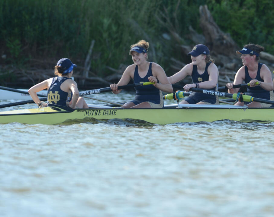 Notre Dame's first varsity eight claimed its second win of the Oak Ridge Cardinal Invitational on Sunday over Duke