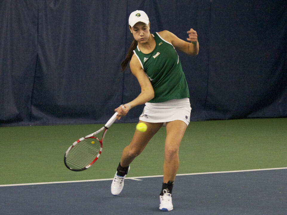 Sophomore Quinn Gleason clinched the match for the Irish at No. 2 singles.
