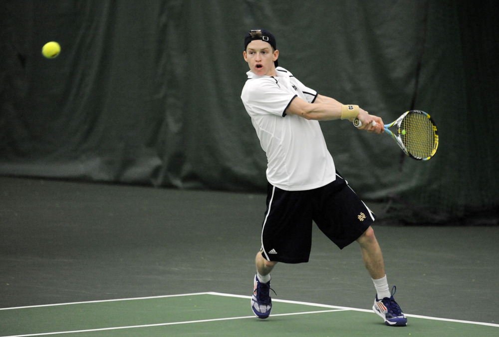 Freshman Josh Hagar clinched the match for the Irish at No. 4 singles.