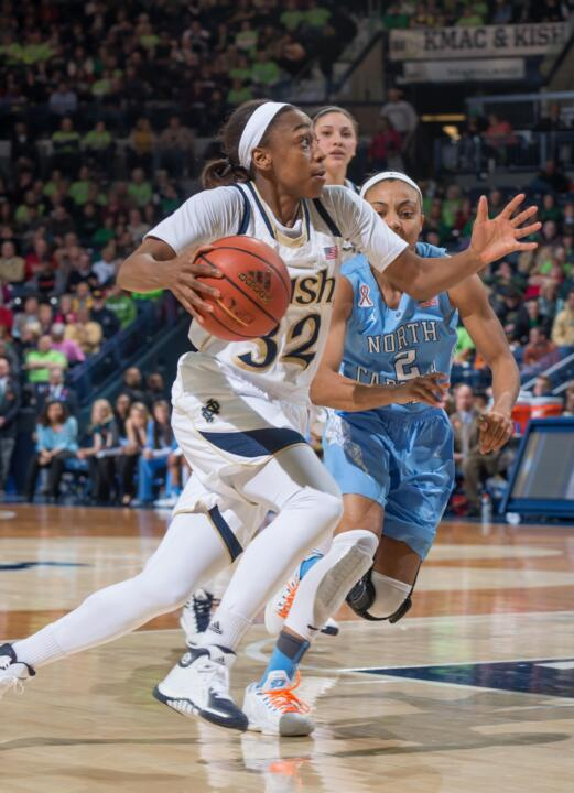 Notre Dame guard Jewell Loyd became just the second Fighting Irish sophomore to be named conference tournament MVP (and first since 1989) when she took top honors at the 2014 ACC Championship after leading Notre Dame to the conference title.