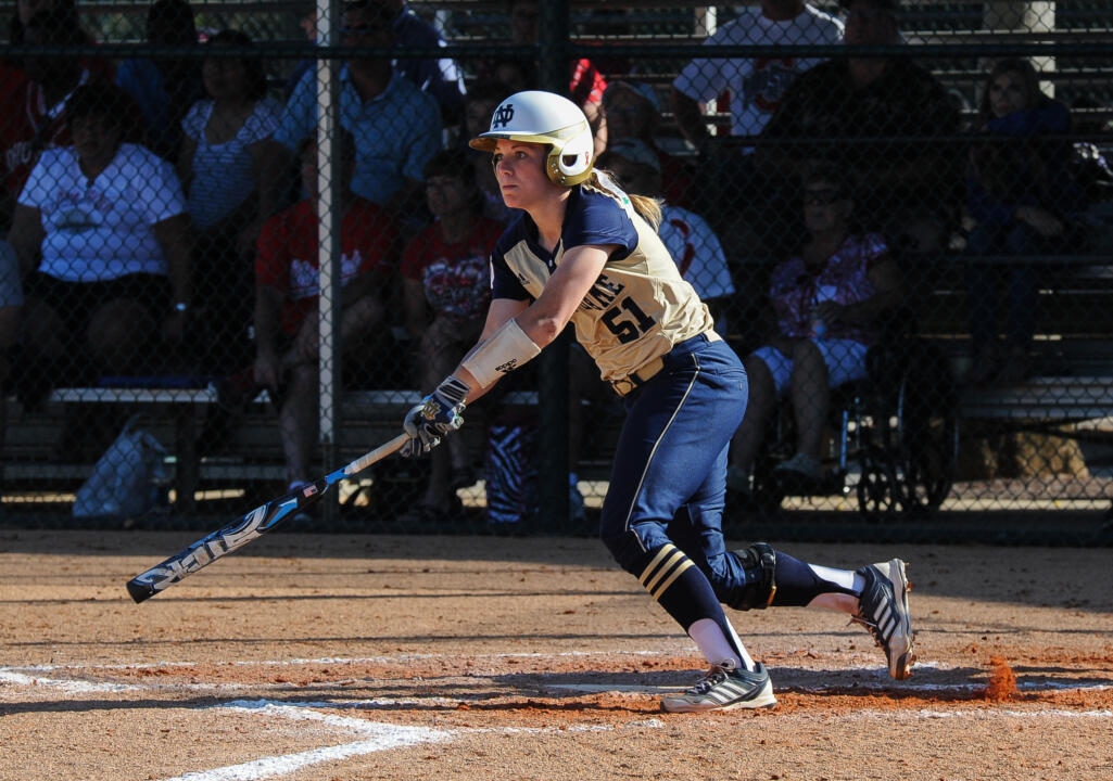 Junior Cassidy Whidden scored the tying Notre Dame run in the bottom of the seventh and ninth innings on Thursday against FIU