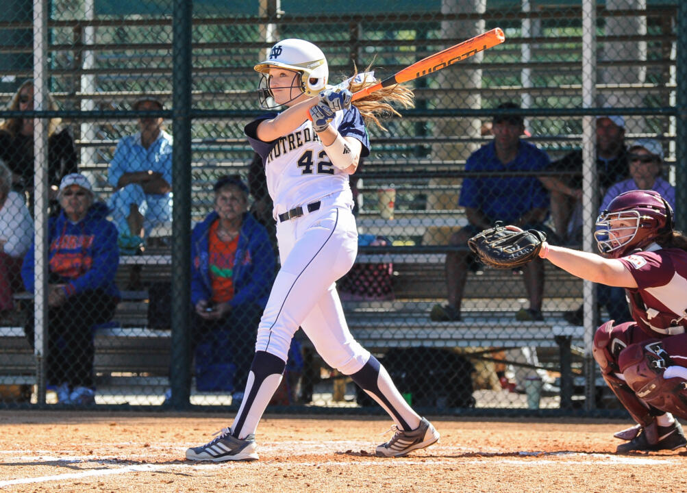 Senior captain Chloe Saganowich plated the game-winning run Thursday against FIU with an RBI double in the 13th inning