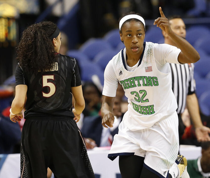 Sophomore guard Jewell Loyd scored a game-high 16 points and grabbed six rebounds in Notre Dame's ACC semifinal win over North Carolina State on Saturday night.