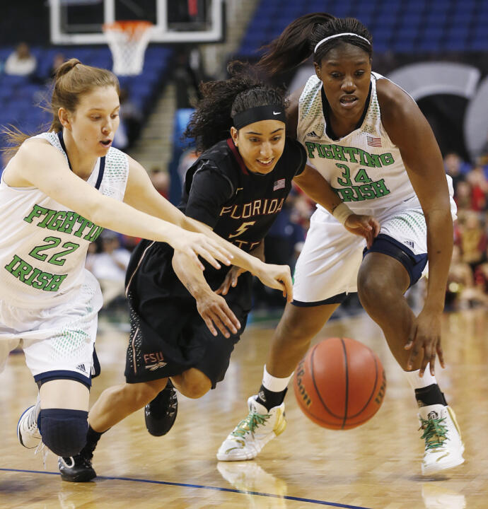 Juniors Madison Cable (left) and Markisha Wright have been key parts of Notre Dame's bench.