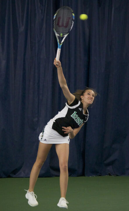 Sophomore Julie Vrabel clinched the match for Notre Dame at No. 6 singles.