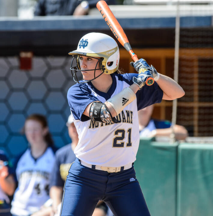 Freshman outfielder Karley Wester ranks second on the Notre Dame roster with a .373 batting average this season