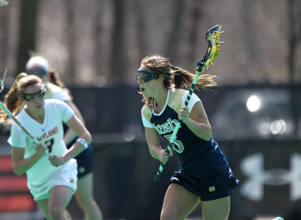 Rachel Sexton picked up a hat trick to lead ND's offense at Maryland.