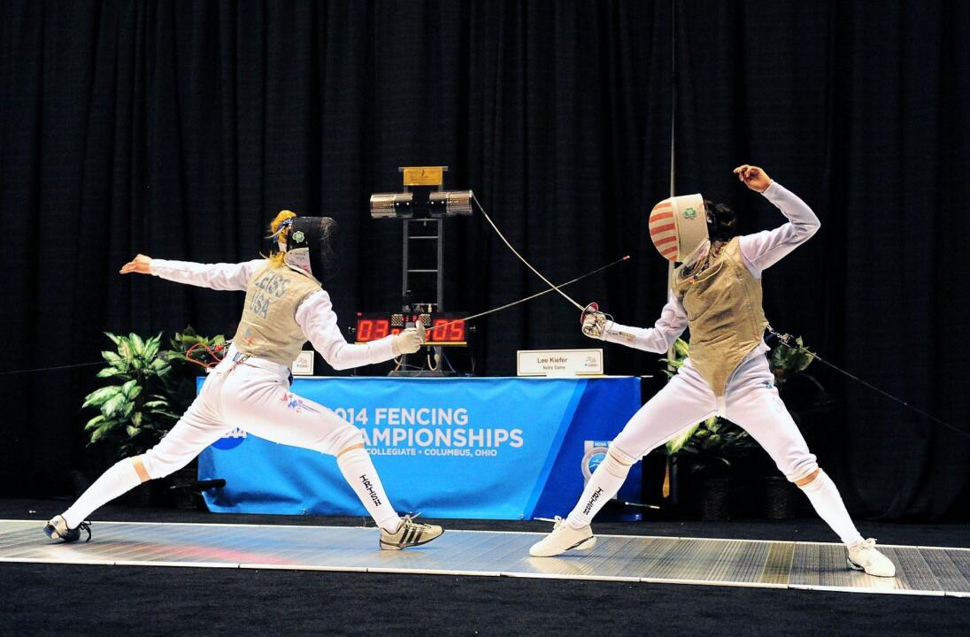 Lee Kiefer claimed her second women's foil title with a 13-10 win over her Notre Dame teammate, Madison Zeiss.