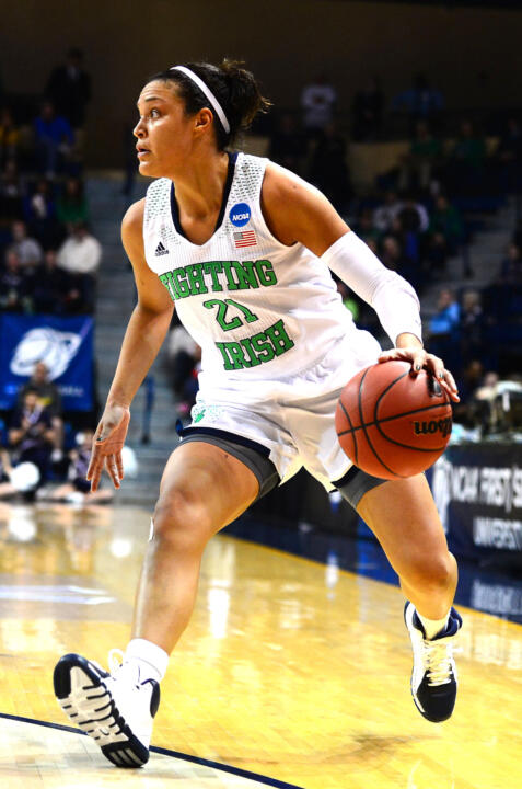 In the past three weeks, Notre Dame senior guard/tri-captain Kayla McBride has been named a finalist for all three major national player of the year awards (Wooden Award, Naismith Trophy, Wade Trophy), joining sophomore teammate Jewell Loyd on the latter finalist rundown, it was announced Thursday by the WBCA.
