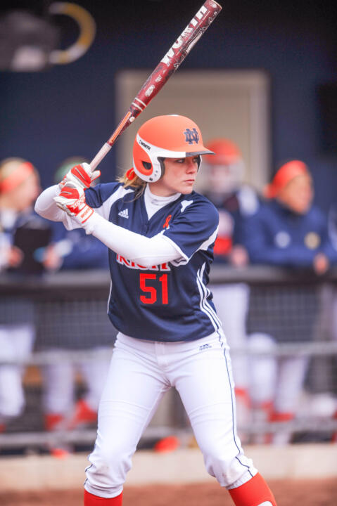 Cassidy Whidden's walk-off, three-run home run delivered a series sweep for Notre Dame in the Strikeout Cancer finale against Rutgers in 2013