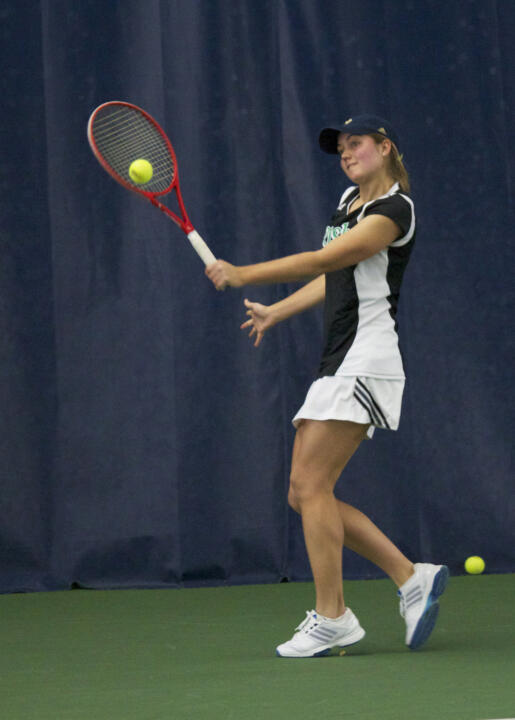 Freshman Mary Closs clinched the match for Notre Dame at No. 5 singles.