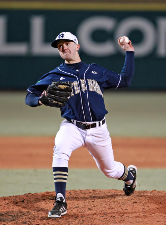 Sophomore LHP Michael Hearne hurled a complete-game shutout over Boston College in Saturday's second game.