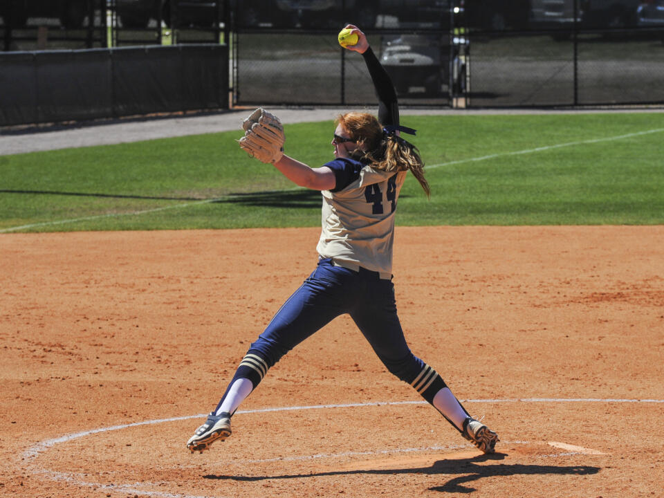 Senior pitcher Laura Winter became the first Notre Dame pitcher to reach 1,000 career strikeouts in Thursday's win over Valparaiso