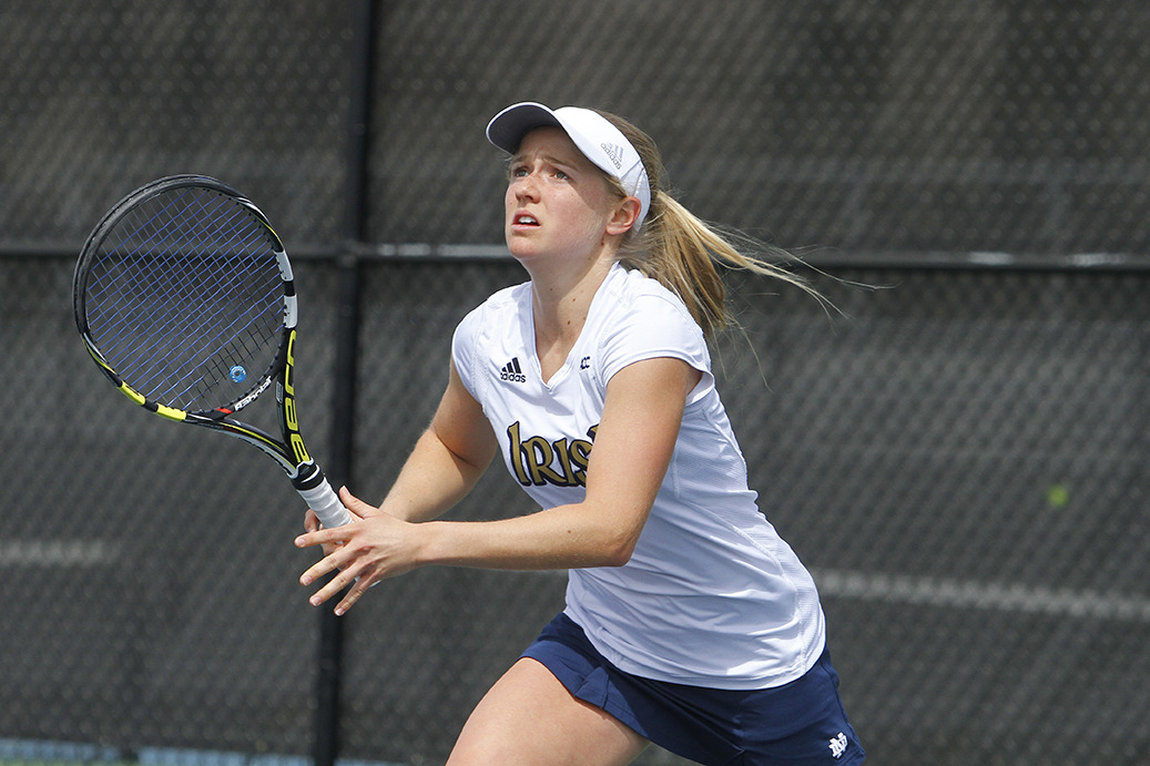 Freshman Monica Robinson clinched the match for the Irish.