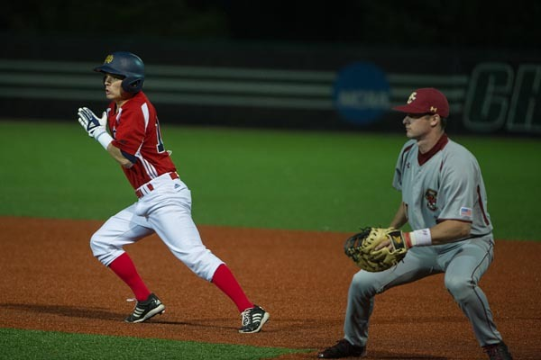 Junior DH Conor Biggio had a pair of walks in Friday's 4-1 loss to Boston College in 11 innings.