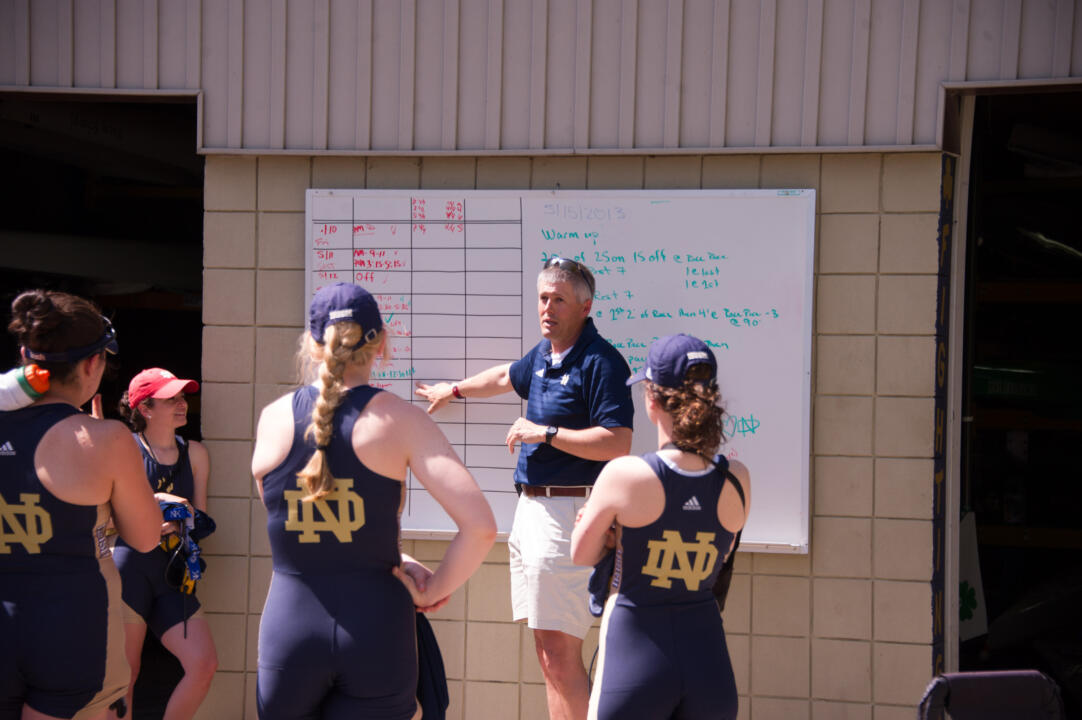 Notre Dame head coach Martin Stone and the No. 9 Irish posted strong finishes against a top national field over the weekend at the Lake Natoma Invitational