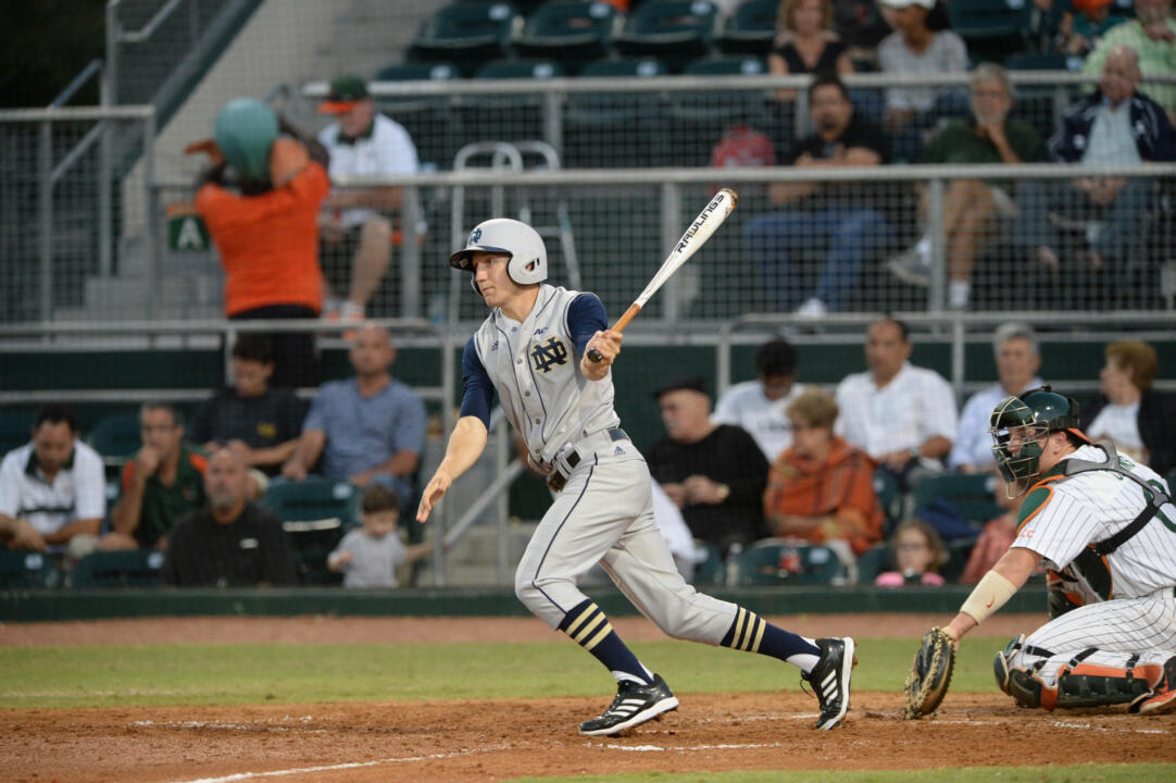 Junior Mac Hudgins batted .455 this past weekend against Miami.