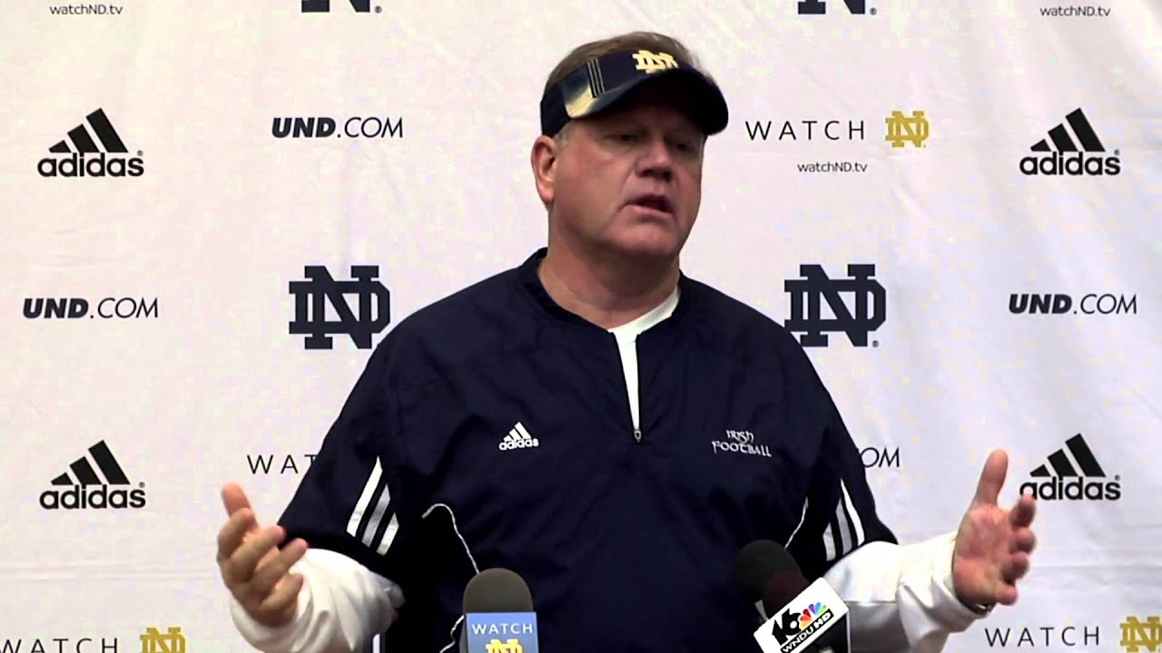 Coach Kelly Post Practice - April 9, 2014