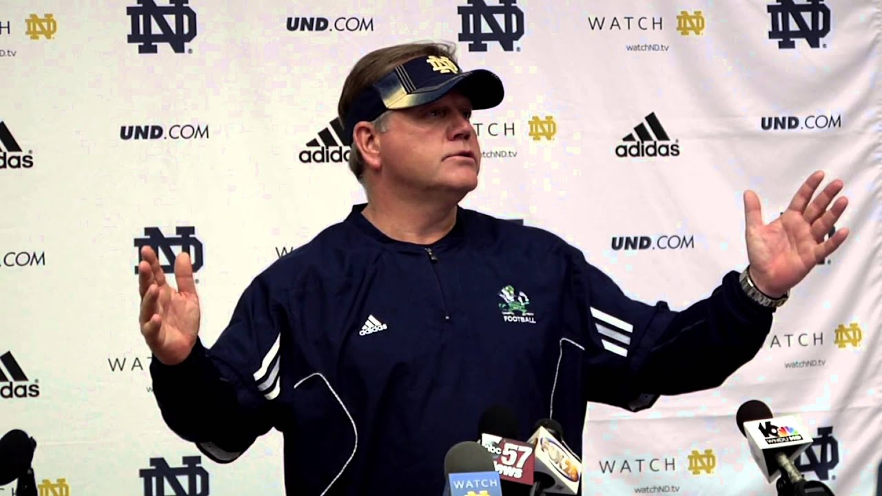 Coach Kelly Post Practice - April 4, 2014