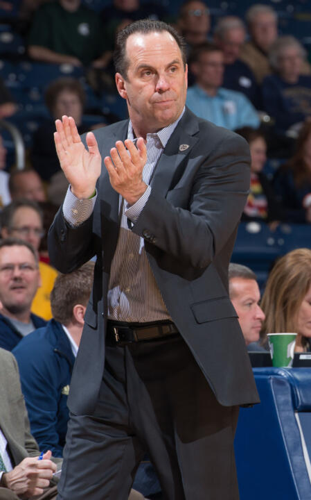 Mike Brey has long been an active participant in the Coach vs. Cancer program.