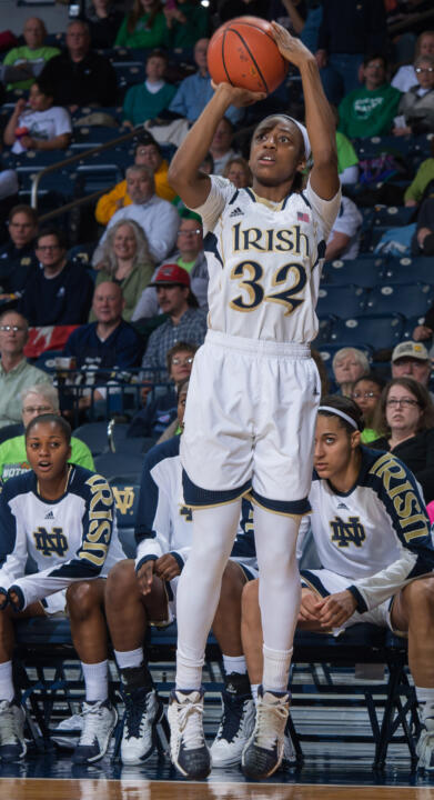 Led by consensus All-America guard Jewell Loyd, Notre Dame will face Boston College and Georgia Tech twice as part of its 2014-15 ACC schedule, the conference announced Tuesday.