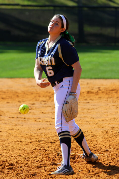 Freshman Rachel Nasland allowed one run in three innings of solid relief against #2 UCLA on Saturday