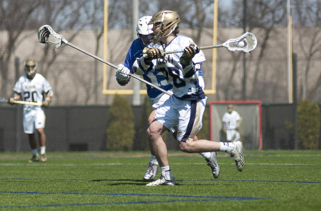 Conor Doyle had a goal and three assists against Duke in April.