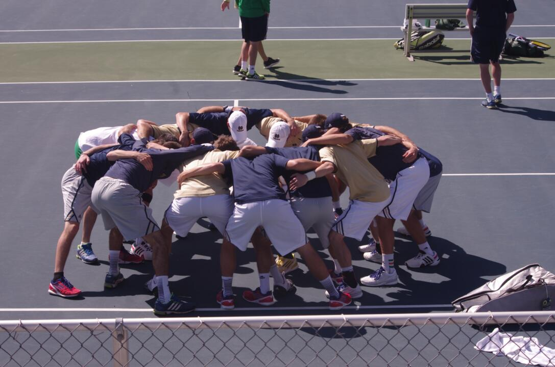 Notre Dame's final ranking of 13th is the second highest final ranking for Notre Dame men's tennis since 1992. (Photo by Steve Hideg)