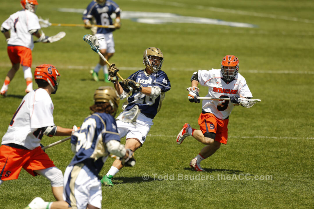 Midfielder/faceoff specialist Nick Ossello had a goal and two assists against Syracuse in the ACC title game.