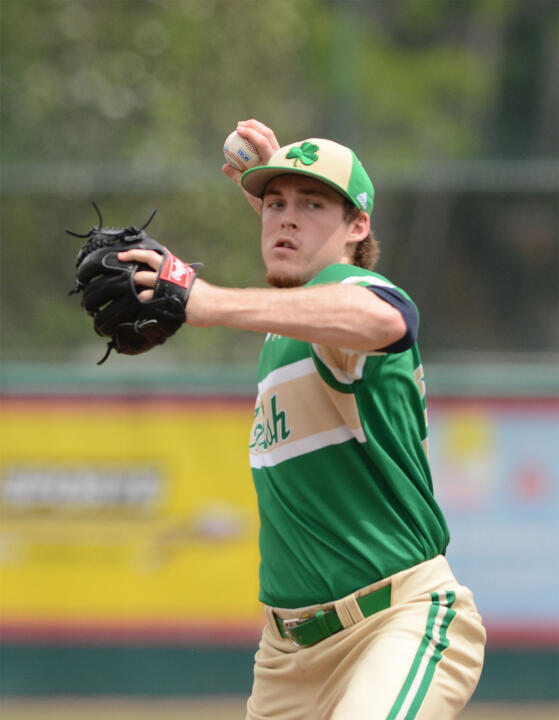 Junior Pat Connaughton hurled seven shutout innings to lead Notre Dame to a 3-0 victory over Pitt Thursday night.