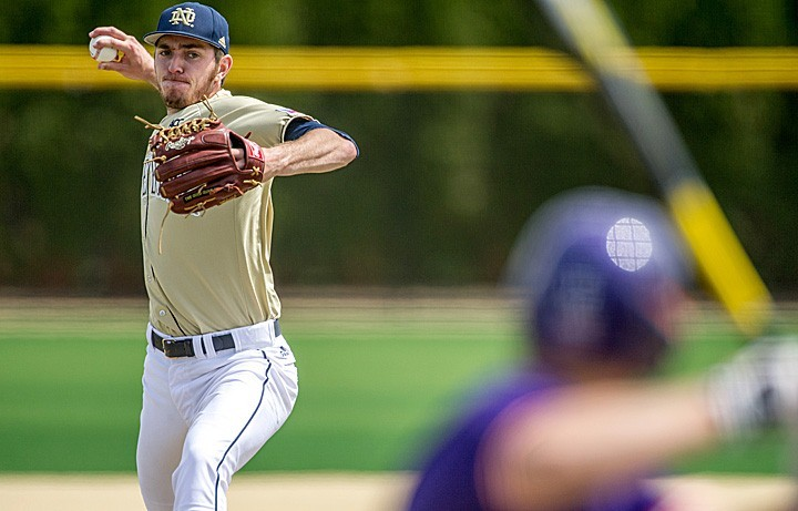 Junior pitcher Scott Kerrigan didn't allow a hit after the first inning Sunday as the Irish blasted No. 22 Clemson, 11-3, to win the three-game ACC series.