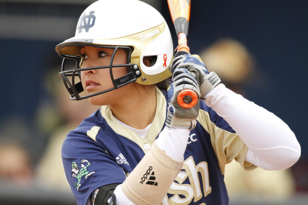 Sophomore Micaela Arizmendi was one of seven Notre Dame players named to the NFCA Mid-Atlantic all-region teams on Thursday