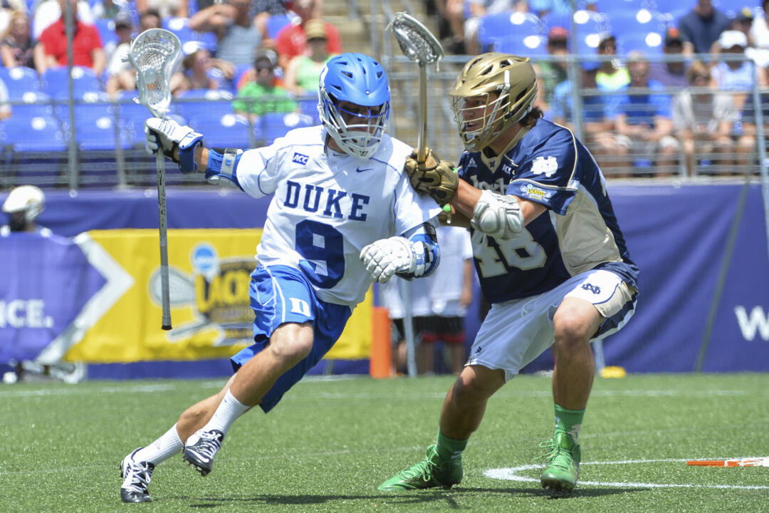 Notre Dame defenseman Garrett Epple was an Under Armour All-American last year. Epple started the final seven games of his freshman campaign in 2014.