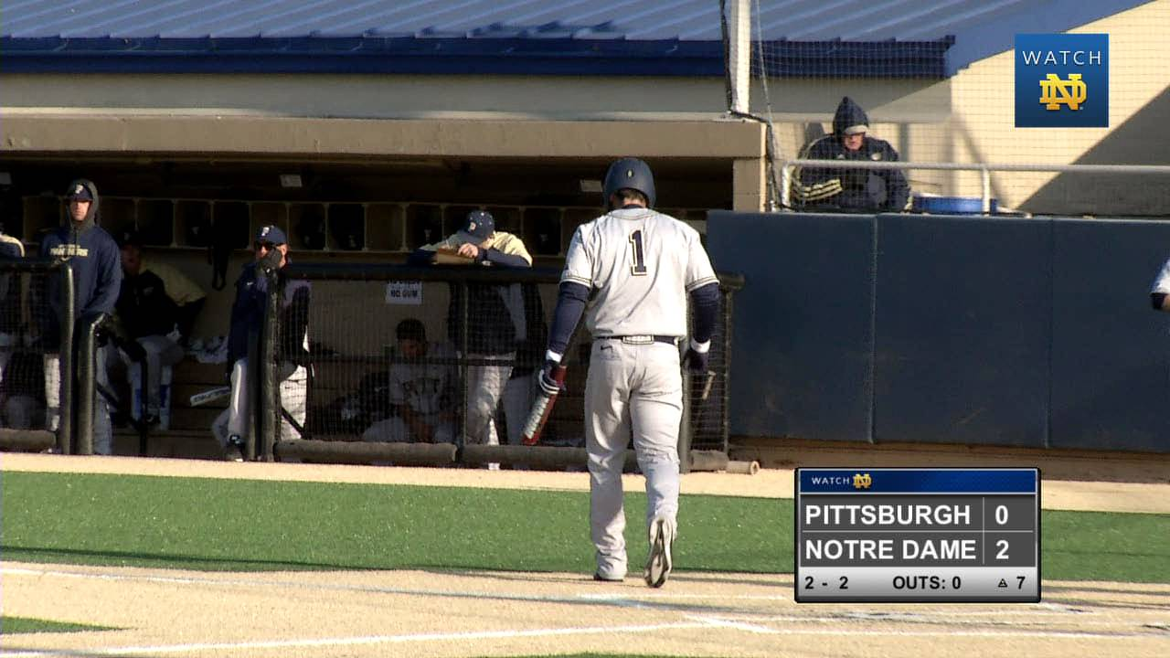 Notre Dame vs. Pittsburgh Baseball Highlights
