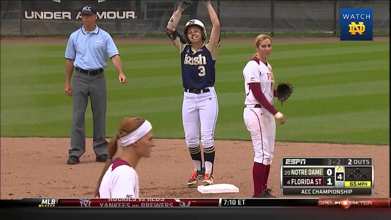 Notre Dame vs. Florida State Softball ACC Championship Highlights