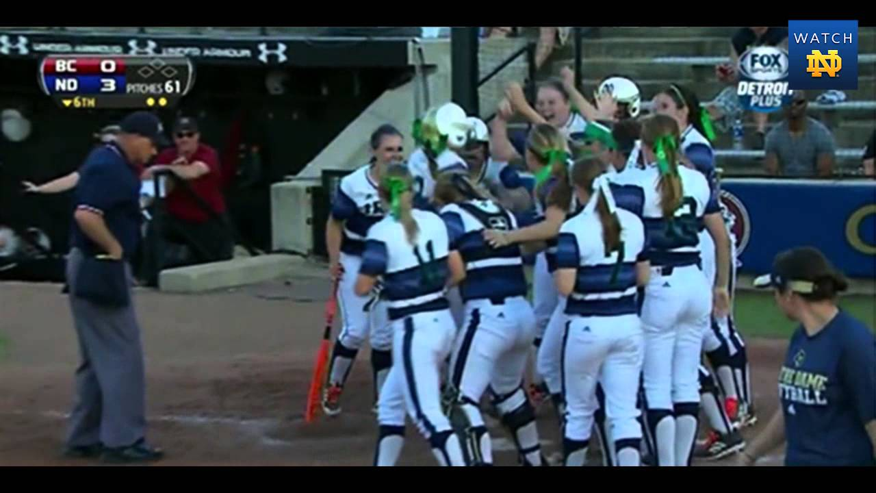 Notre Dame vs. Boston College Softball ACC Quarterfinals Highlights