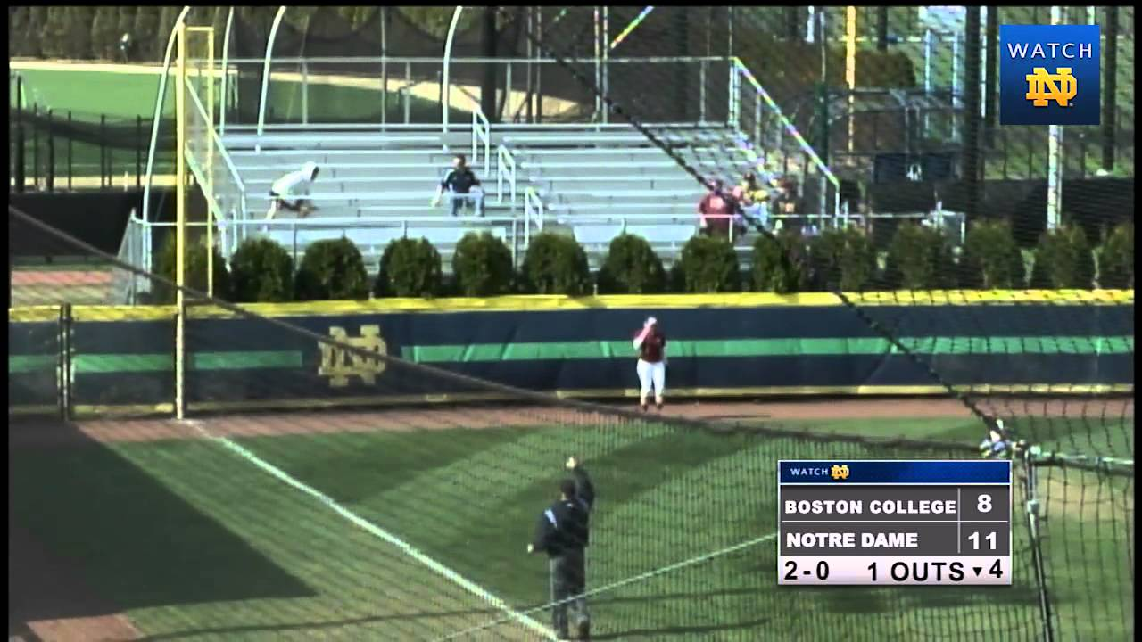 Notre Dame vs. Boston College Softball Highlights