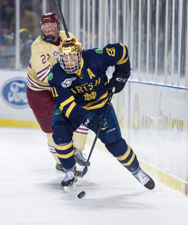 Senior right wing Bryan Rust was one of eight Notre Dame players selected to the 2013-14 Hockey East All-Academic team.