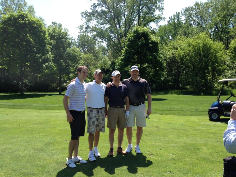 Monogram winners and their guests competed in an 18-hole scramble at the Warren Golf Course.