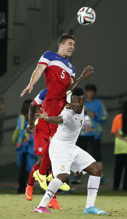 Matt Besler was subbed out at halftime, but he and the U.S. kept Ghana off the scoreboard in the opening half.