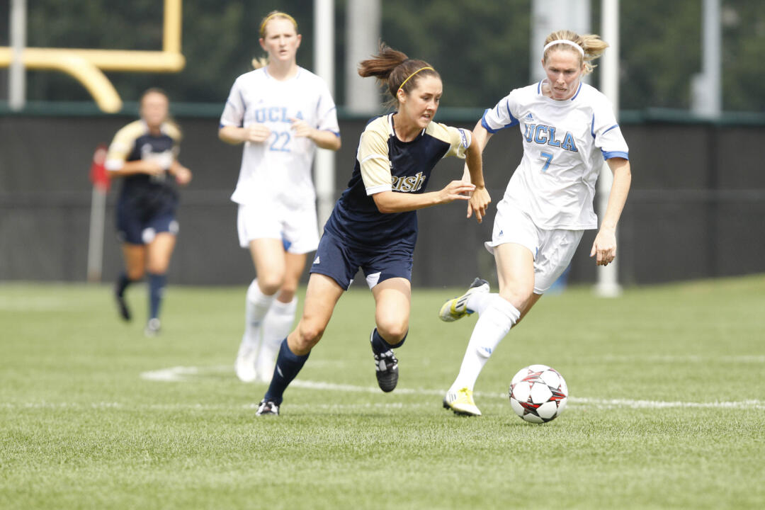 Recently-graduated Notre Dame women's soccer student-athlete Elizabeth Tucker has been nominated by the ACC for the 2014 NCAA Woman of the Year award, the conference announced Wednesday.