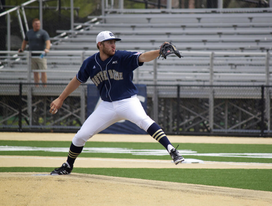Rising sophomore Ryan Smoyer is 4-0 with a save (2.62 ERA) in a team-high 37.2 innings of work for the Kalamazoo Growlers this summer.