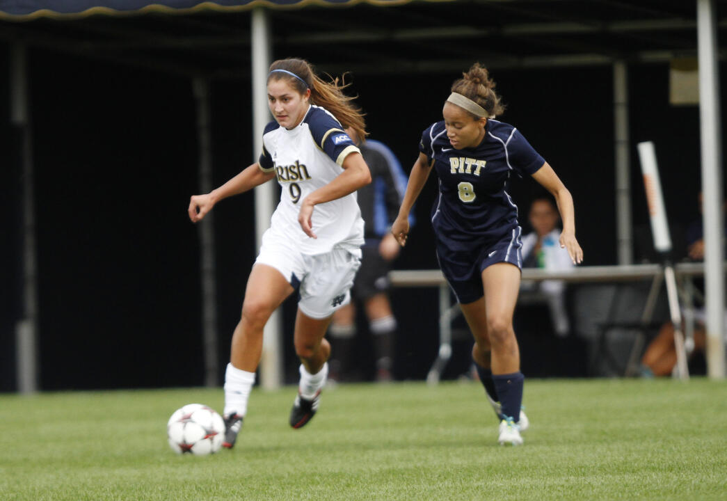 Senior forward Lauren Bohaboy tallied her second preseason goal in Notre Dame's 2-2 draw at Northwestern on Saturday