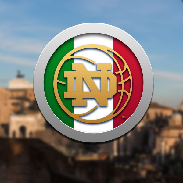 Fans can follow the Fighting Irish on twitter @NDMBB using the hashtag #NDMBBItaly.