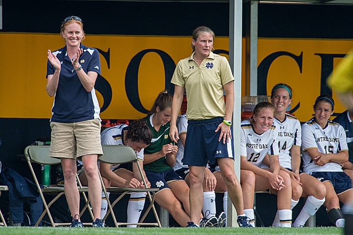 Head coach Theresa Romagnolo will coach her first regular season match at Notre Dame on Friday against Illinois