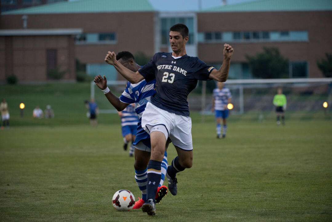 Freshman forward Jeffrey Farina started the match and had one shot on goal.