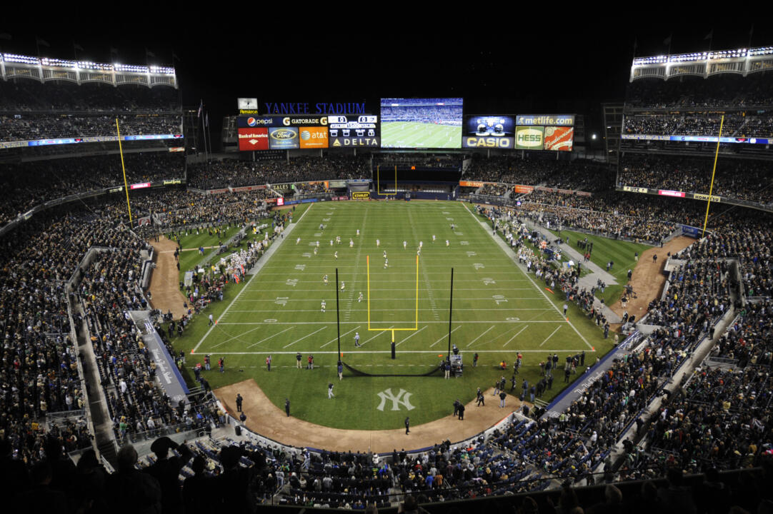 The November 2010 Shamrock Series game against Army at Yankee Stadium marked the 50th meeting between the two schools.
