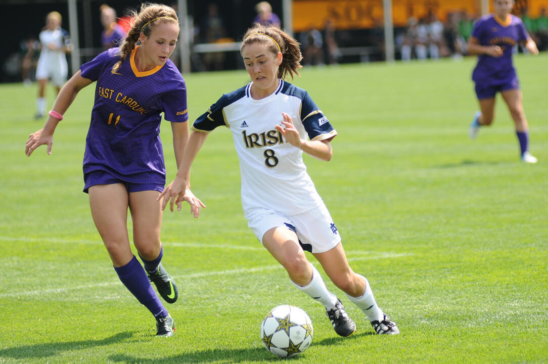 Elizabeth Tucker, a four-year monogram recipient and two-time captain on the University of Notre Dame women's soccer team from 2010-13, has been selected as one of nine finalists for the 2014 NCAA Woman of the Year award. Tucker is the first Fighting Irish student-athlete ever to be named a finalist for the honor.