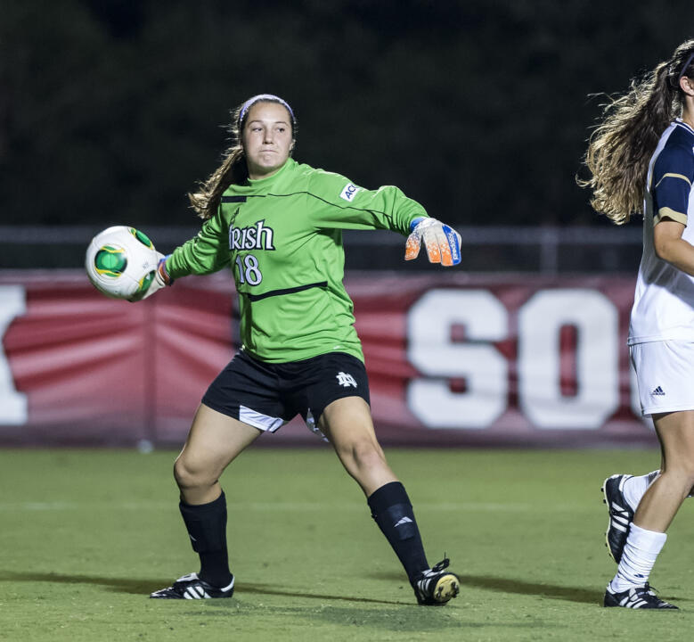 Notre Dame goalkeeper Kaela Little was selected as the ACC Women's Soccer Player of the Week on Tuesday