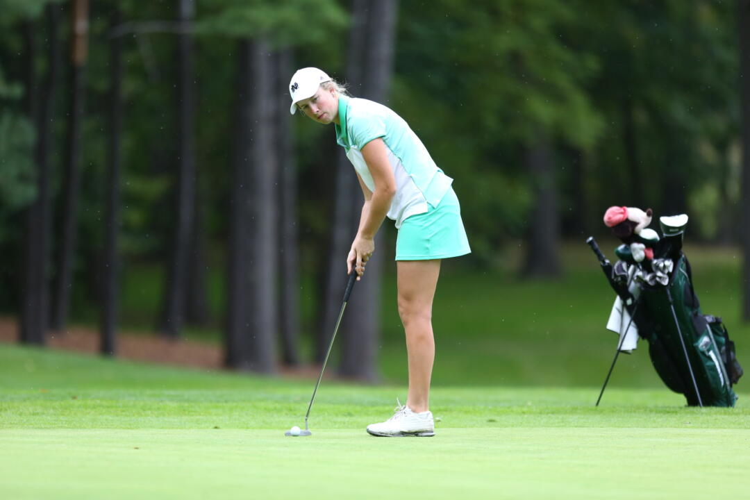 Junior Talia Campbell posted rounds of 73-76 (149) to tie for fifth place on day one of the Mary Fossum Invitational on Saturday
